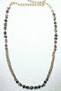 Amethyst, labradorite, FW Pearl & 14kt GF necklace